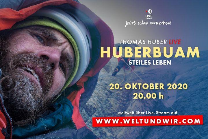 """Erlebt den Extremkletterer Thomas Huber von den Huberbuam am 20. Oktober im Livestream bei Traum und Abenteuer. In seinem Vortrag """"Steiles Leben"""" nimmt er euch mit auf eine wilde Reise durch die Gebirge dieser Erde. Hier geht's zum Livestream ➡️ ww..."""
