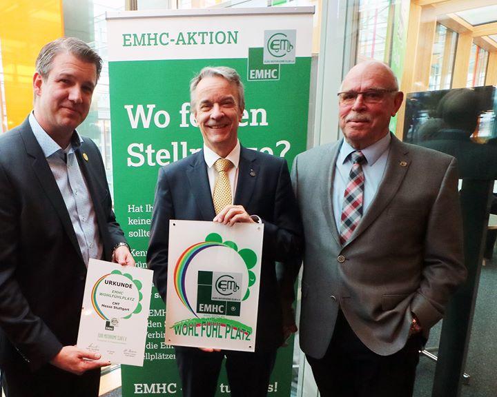 Auf der CMT 2018 wurde der Stellplatz der Messe Stuttgart vom EMHC als Wohlfühlplatz ausgezeichnet. Ehrensache, dass wir als Stellplatzbetreiber nun auch offizielles Mitglied des EMHC sind und weiterhin die Plattform für die Verleihung des Wohlfühlp...