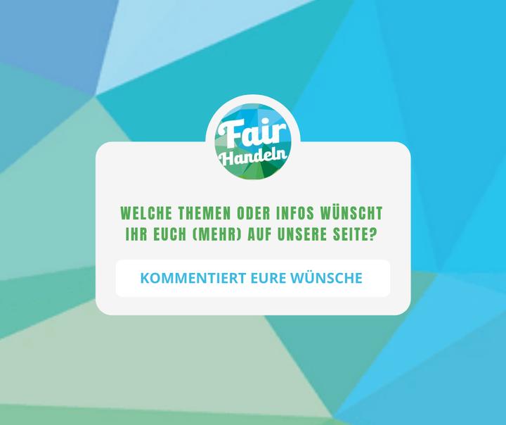 Die Fair Handeln ist mehr als nur eine Messe - wir wollen auch darüber hinaus für euch da sein, mit wertvollen #Facts und #Tipps dazu, wie ihr euer Alltag nachhaltiger gestalten könnt.   Deswegen - ganz ehrlich und direkt - die Frage an euch: Was w?...