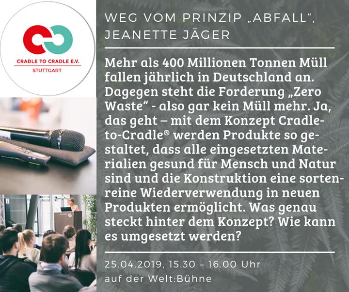 Das Rahmenprogramm der Fair Handeln 2019 - Internationale Messe steht! Hier findet ihr alle Events ? www.fair-handeln.com. Mit dabei sind auch Cradle to Cradle e.V. mit einem Vortrag zu #ZeroWaste.