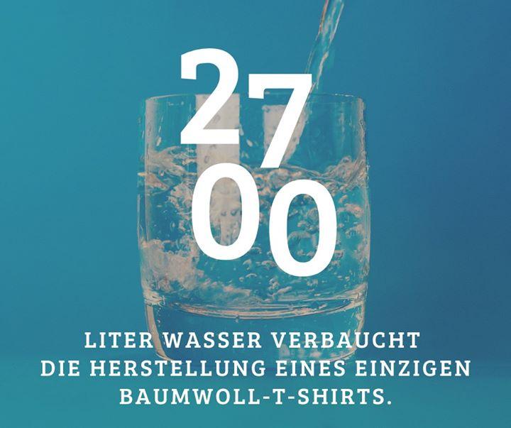 Das entspricht der Wassermenge, die ein Mensch in 3 Jahren trinken sollte! ? (Quellen: enorm Magazin, virtuelles-wasser.de)