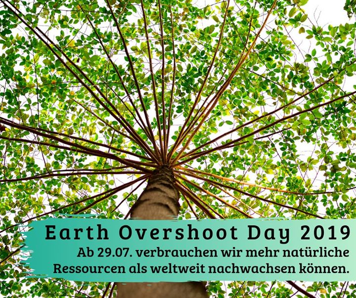 Ab morgen verbrauchen wir mehr natürliche Ressourcen als weltweit nachwachsen können. ?? Der diesjährige #EarthOvershootDay ist das früheste Datum seit dem Start der Berechnung.  Was bedeutet das? Das Budget der Natur ist für dieses Jahr auf...