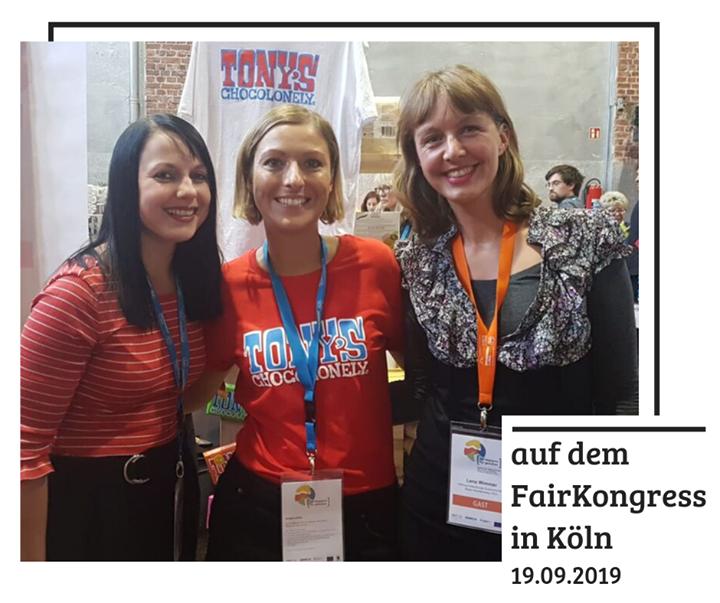 Lena und Franziska waren für euch auf dem #fairkongress in Köln. Dort haben sie auch Nicole von Tony's Chocolonely getroffen, die die faire Schokolade aus Holland nach Deutschland bringt. Mit neuen Ideen und ganz viel Tatendrang geht es jetzt weiter...