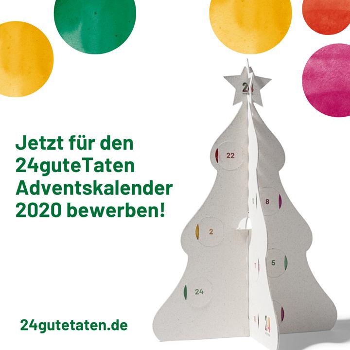 Auf der Suche nach guten ? Taten: Der 24guteTaten e.V. sucht noch bis 28.02.2020 soziale und ökologische Projekte von gemeinnützigen Organisationen, die transparent und wirkungsorientiert arbeiten. Durch eine Beteiligung am Adventskalender für 20...