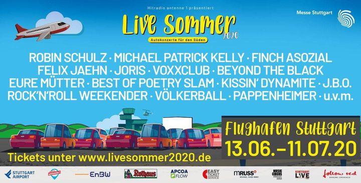 ???? Gewinnt Tickets für den Live Sommer 2020!??  Wir verlosen jeweils 2x1 Ticket für die Autokonzerte vom 18.-21.06.2020 am Flughafen Stuttgart! ? Mit zahlreichen großen Namen aus den Bereichen Rock, Pop, HipHop, Electro...