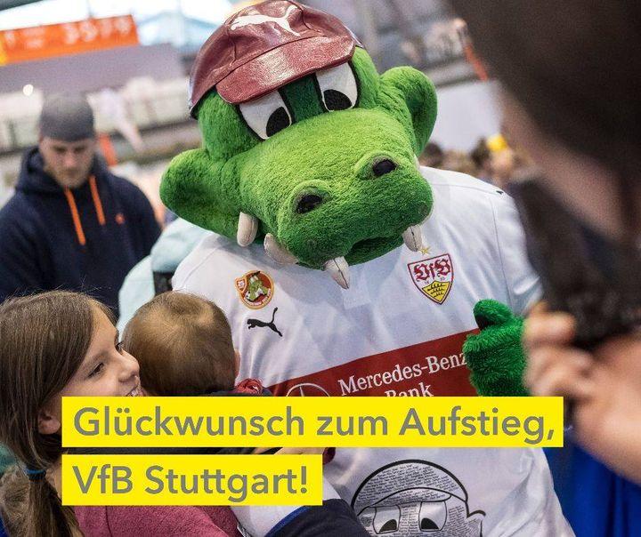 Erstklassig! Wir freuen uns tierisch mit euch, VfB Stuttgart, & gratulieren herzlich! ???