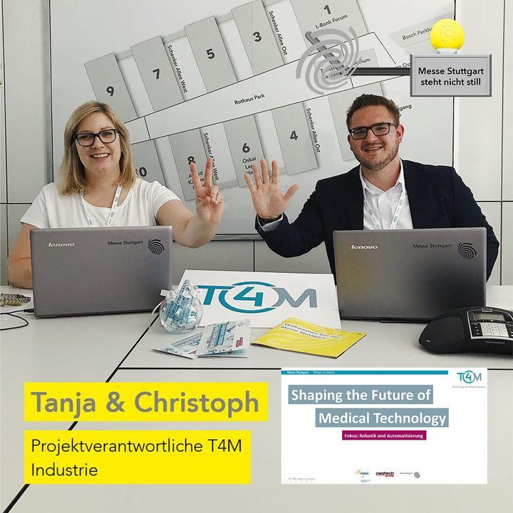"""Die Messe Stuttgart steht nicht still! ? Damit die aktuellen Entwicklungen der Medizintechnik präsentiert werden können, haben Tanja & Christoph die Web-Session-Reihe der T4M """"Shaping the Future of Medical Technoloy"""" organisiert. ⚕️⚗️ Hi..."""