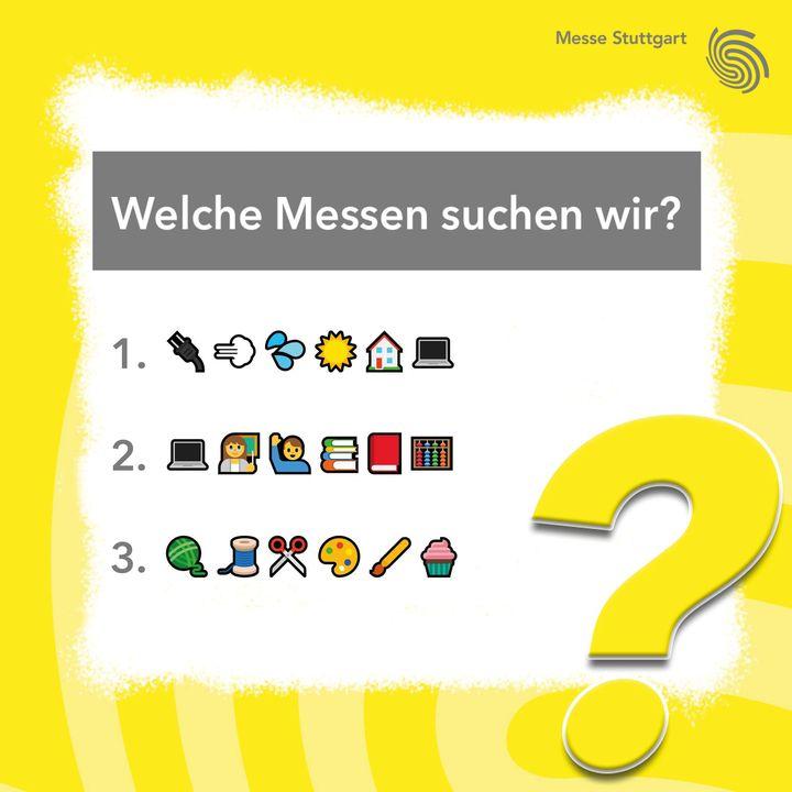 Messen gesucht: Wer von euch erkennt, welche unserer Messen wir hinter diesen Emojis versteckt haben? ? Kennt ihr sie alle? Wir sind gespannt auf eure Kommentare! ?