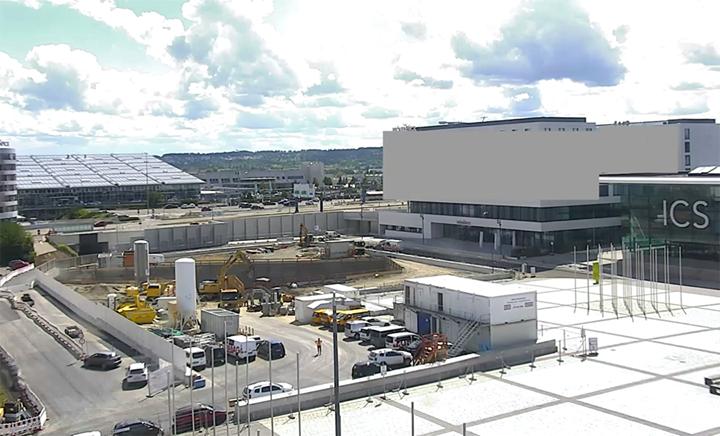 Baustellen-Update: ? Die Verlängerung der Stadtbahnlinie U6 von Stuttgart-Fasanenhof zum Flughafen und zur Messe sowie der Bau des Messetunnels unter der Messepiazza laufen auf Hochtouren! ? So sieht der aktuelle Stand bei uns aus. ?
