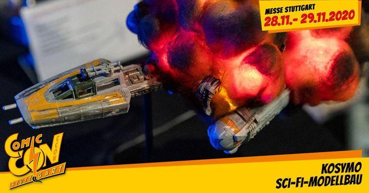 KosyMo Sci-Fi-Modellbau auf der CCON | COMIC CON STUTTGART Mit LED illuminierte und modifizierte Raumschiffe & Co. Alexander Kosyra präsentiert erstmalig auf der CCON seine mit LED-Technik beleuchteten und modifizieren Science-Fiction-Modelle. Mehr da...