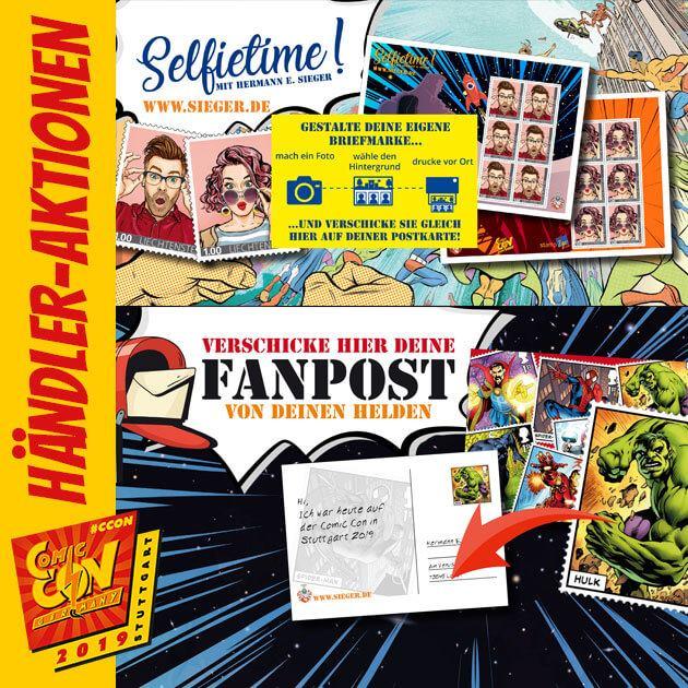 Das Highlight dieses Jahr am Stand der Hermann E. Sieger GmbH auf der Comic Con Germany ist die Selfie-Box. Diese druckt keine Fotostreifen aus, sondern Briefmarken. Sprich komm zum Stand, mach ein Foto und erhalte Briefmarken mit deinem eigenen Motiv....