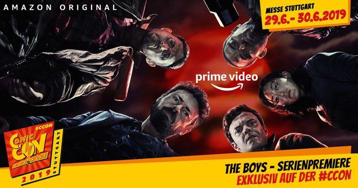 Das Amazon Original THE BOYS startet am 26. Juli exklusiv bei Amazon Prime Video. Erlebe die THE BOYS - Serienpremiere der ersten Folge vor dem offiziellen Starttermin auf der #CCON | Comic Con Germany in Stuttgart am 29.06. (10:00 / 13:00 / 15:00) und...
