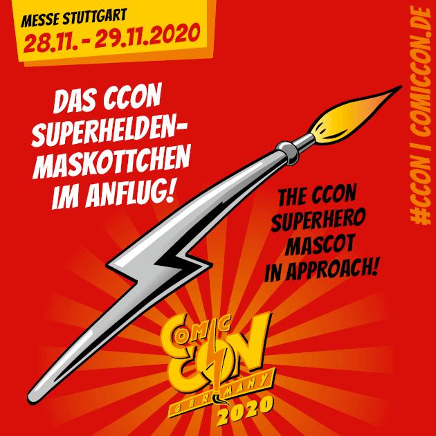 Die CCON | COMIC CON GERMANY in Stuttgart bekommt ihren hauseigenen Superhelden! Heute wird enthüllt, wer in Zukunft im Dienst der #CCON steht. Sei um 19:00 Uhr an dieser Stelle mit dabei!