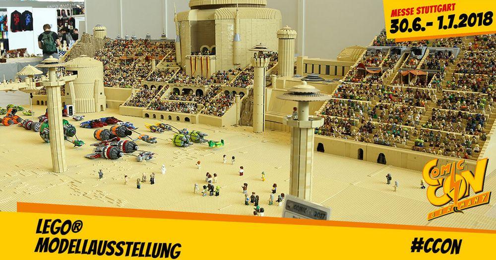 Nicht vergessen. Die (LEGO® Modellausstellung) auf der CCON | COMIC CON GERMANY hat dieses Jahr einen neuen Platz. Ihr findet sie auf der Galerie der Halle 1.