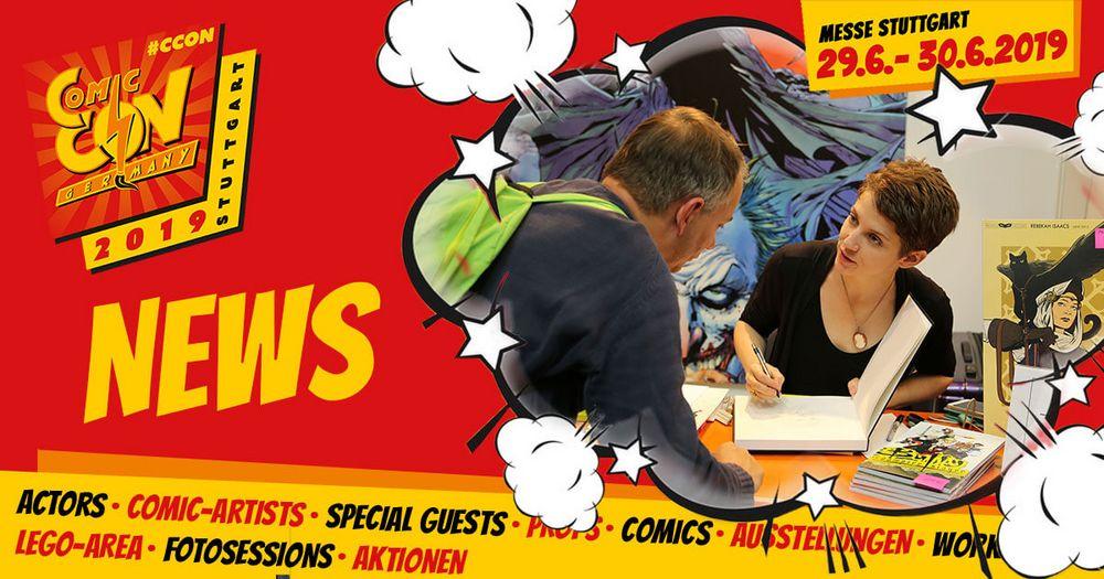 Hier nochmal die Signierzeiten für alle Zeichner am Comic Con Germany Merchandisestand.   Stand 1A12 direkt am Eingang der Halle 1: