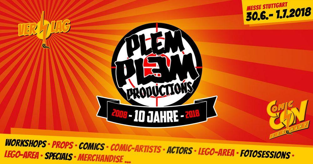 Plem Plem Productions wird wieder auf der CCON | COMIC CON GERMANY dabei sein und hat alle am Stand anwesenden Zeichner bekannt gegeben. Außerdem kannst du hier schon einmal einen Blick auf die exklusiven Variant-Cover werfen, die es in Stuttgart zu e...