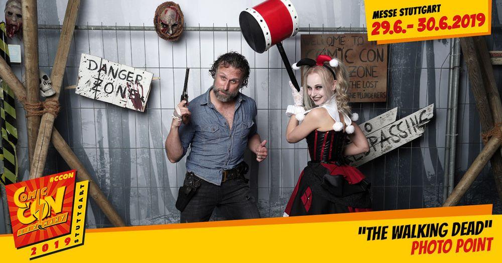 Erlebe den einzigartien Photo Point: Walking Dead mit Rick Grimes Double auf der CCON | COMIC CON GERMANY