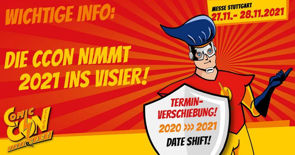 Als wir am 11.09.2020 auf www.comiccon.de und über unsere Social-Media-Kanäle verkündet haben, dass die CCON | COMIC CON STUTTGART wie geplant von 28. bis 29.11.2020 stattfinden kann, herrschte hier in unserem hochmotivierten Team überwältigende A...