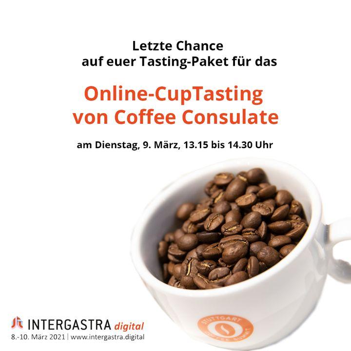 Letzte Chance! Sichert euch heute noch schnell euer Kaffeepaket mit 7 verschiedene Spitzenkaffees und einem Kaffeeblatt-Tee zu je 40 Gramm für das Online-CupTasting von Coffee Consulate am Dienstag, 9. März, auf #INTERGASTRAdigital. ☕ ➡️Tasting...