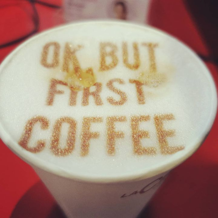 But first coffee ☝️☕ #coffelover #coffee #coffeetime #barista #butfirstcoffee #dabeiseinistalles #Intergastra2020