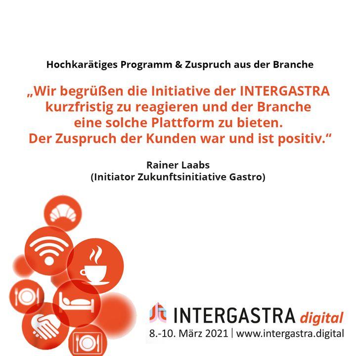 Für das hochkarätige Bühnenprogramm bekam die #INTERGASTRAdigital großen Zuspruch aus der Branche. ? ➡️Alle Infos zur Veranstaltung auf www.intergastra.digital⬅️ #INTERGASTRAdigital2021 Zukunftsinitiative Gastro