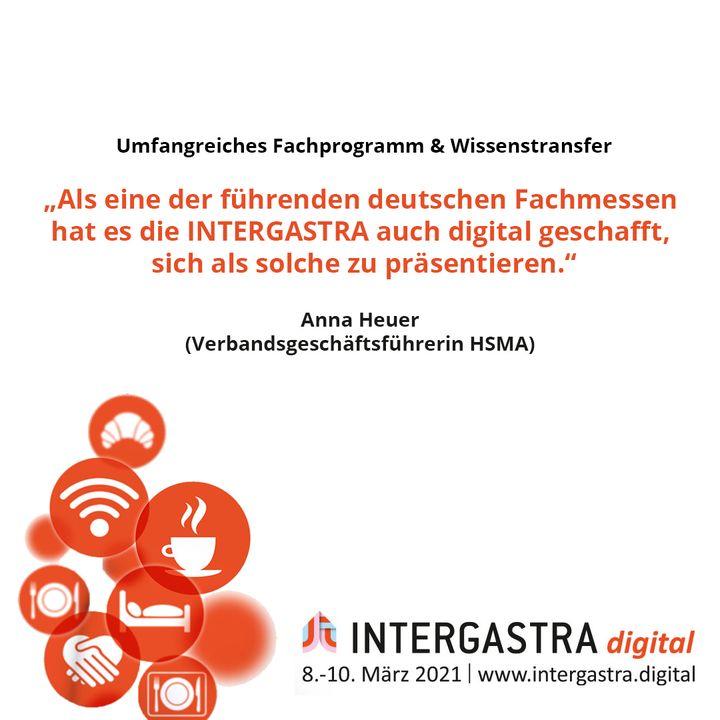 Die #INTERGASTRAdigital überzeugte mit einem umfangreichen Fachprogramm und branchenübergreifendem Wissenstransfer. ? ➡️Alle Infos zur Veranstaltung auf www.intergastra.digital⬅️ #INTERGASTRAdigital2021 HSMA Deutschland e.V.