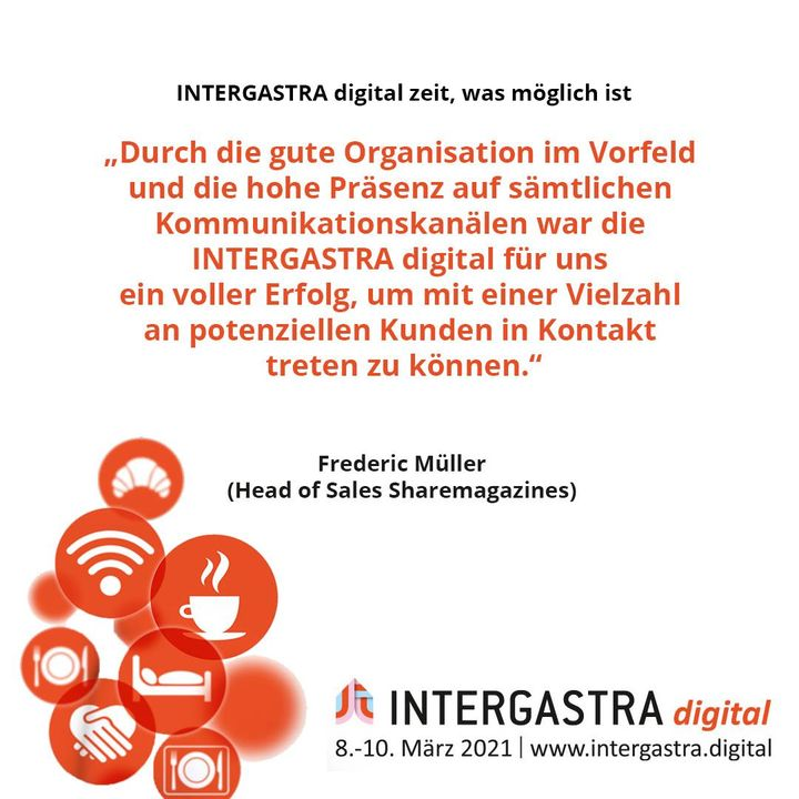 Die #INTERGASTRAdigital hat gezeigt, was möglich ist! ? ➡️Alle Infos zur Veranstaltung auf www.intergastra.digital⬅️ #INTERGASTRAdigital2021 sharemagazines