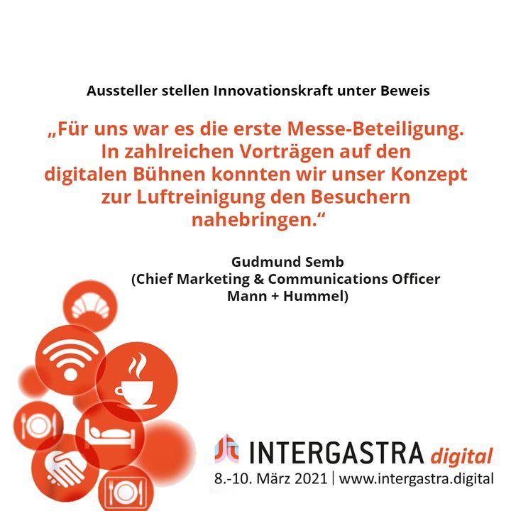 Auf der #INTERGASTRAdigital haben die Aussteller ihren Innovationsgeist unter Beweis gestellt. ? ➡️Alle Infos zur Veranstaltung auf www.intergastra.digital⬅️ #INTERGASTRAdigital2021 MANN+HUMMEL