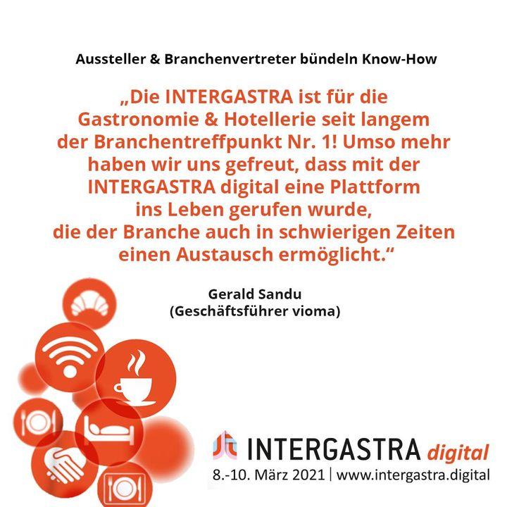 Bei der #INTERGASTRAdigital haben Aussteller und Branchenvertreter ihr Know-How gebündelt. ? ➡️Alle Infos zur Veranstaltung auf www.intergastra.digital⬅️ #INTERGASTRAdigital2021 vioma GmbH