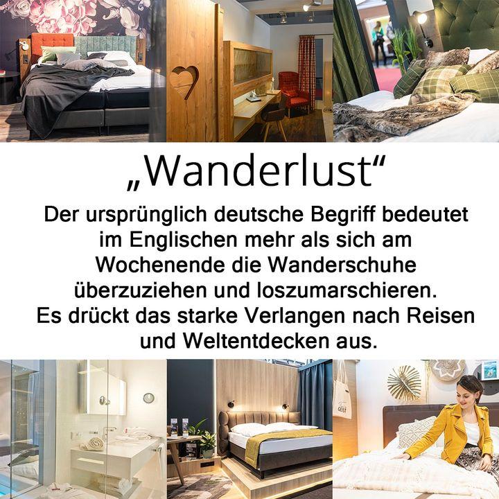 Wanderlust ist so viel mehr als die Lust am Wandern. Im Englischen versteht man darunter die Lust am Reisen und Weltentdecken. Wer eindrucksvoll reist, möchte auch entsprechend gebettet sein. Alles, was es zum Thema Hotel zu entdecken gibt, findet sic...