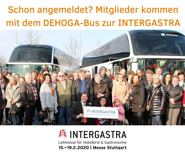 Freie Fahrt, freier Eintritt! Der DEHOGA-Bus bringt euch direkt zur #Intergastra2020. ?? DEHOGA Baden-Württemberg #dabeiseinistalles #branchentreff