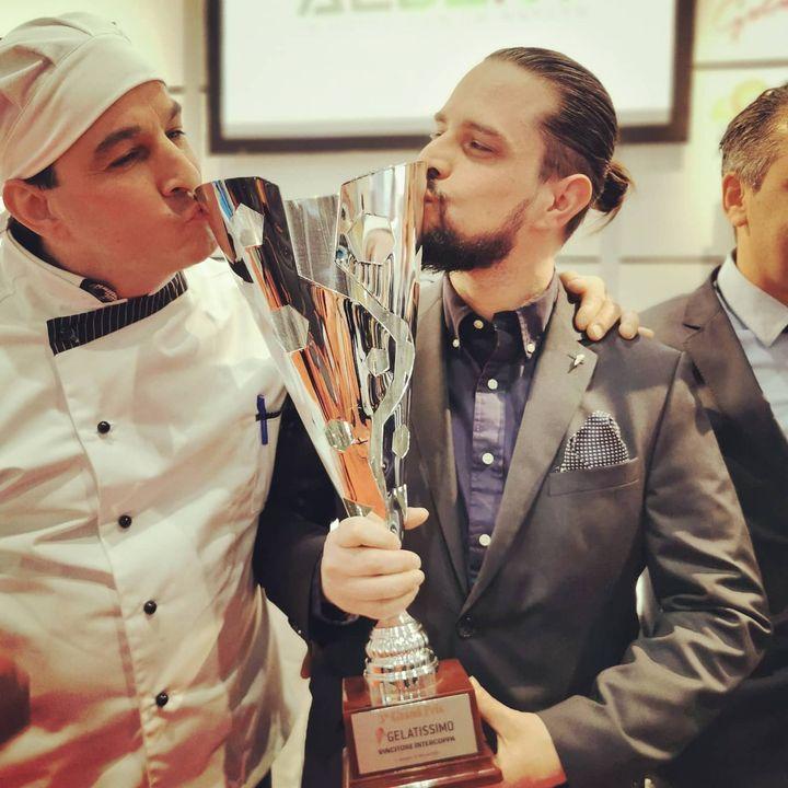 Wir küren auch den Gewinner des Intercoppa Wettbewerbs auf der #Gelatissimo2020. ?? Francesco Barletta vom Barletta Eis in Berlin sichert sich den Pokal. #intergastra2020 #dabeiseinistalles #iceicebaby #Eis #Eiscreme #gelateria  @ INTERGASTRA