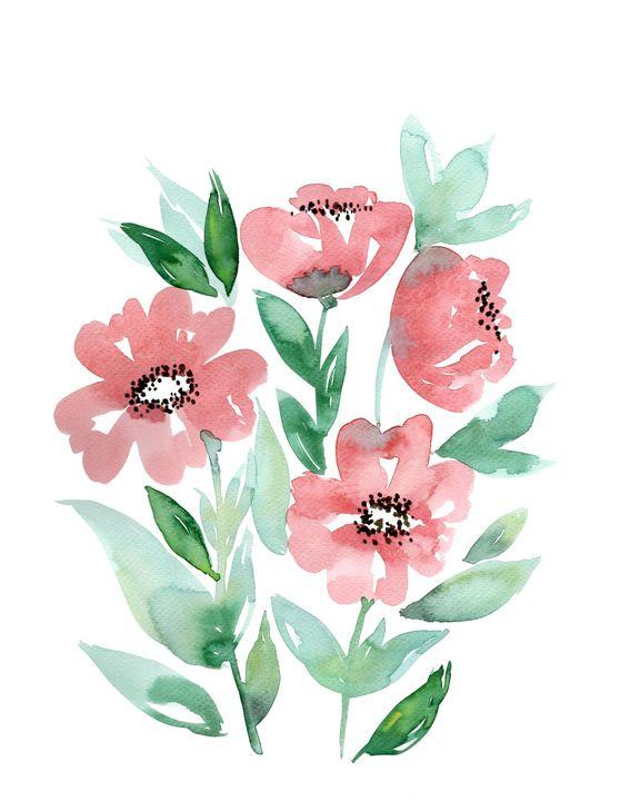 Wunderschöne Aquarellblumen sind perfekt, um Geschenkanhänger, Grußkarten oder die eigene Wand zu verzieren. Beim Workshop von TOPP & BusseSeewald vom frechverlag auf der #kreativ18 lernt ihr, wie es geht!