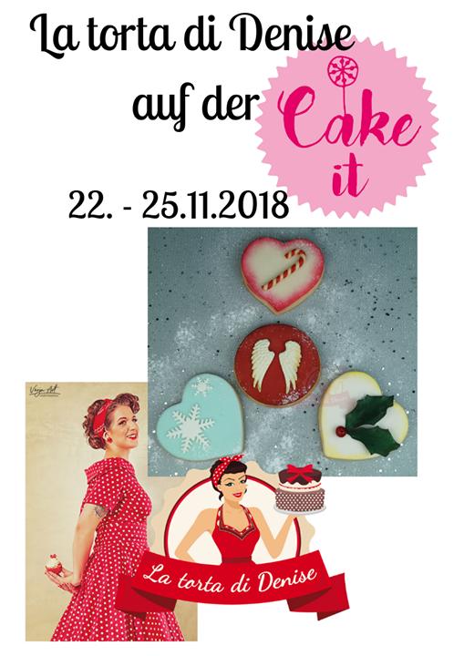 Überraschung! Darauf setzt La torta di Denise bei ihren Vorführungen auf der #cakeit18. Sie zeigt ihre Silvester-Kekse mit Überraschungs-Effekt. Mehr wollen wir hier natürlich nicht verraten. Wer neugierig ist, sollte einfach selbst bei Denise am S...