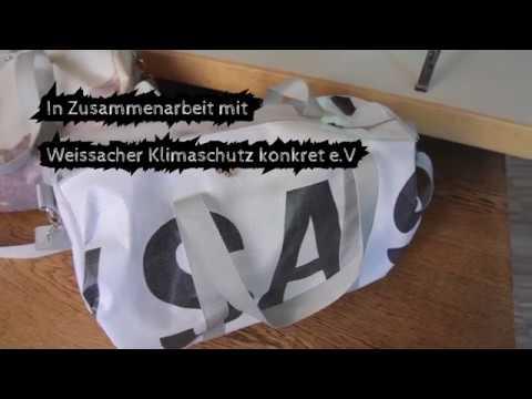 Tolle Upcycling-Taschen selbermachen - Codierbar?! und Weissach Klimaschutz konkret e.V. zeigen, wie's geht! Auch auf der Messe könnt ihr die stylischen Produkte, die zum Beispiel aus alten Fahnen oder Bannern der Messe genäht wurden, erwerben ?