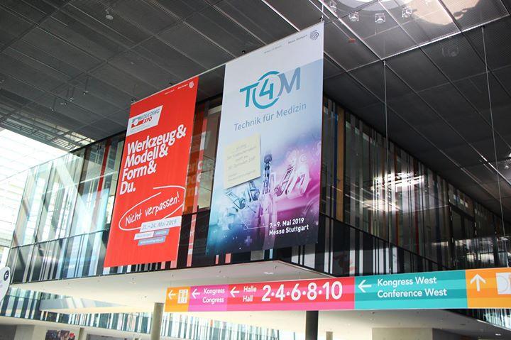 Die Aufbauarbeiten für die #AMB18 laufen auf Hochtouren: Die #IndustriemessenSTR, wie unsere Moulding Expo und die neue Messe für Medizintechnik in Stuttgart, #T4M, sind bereits jetzt in Szene gesetzt! ?