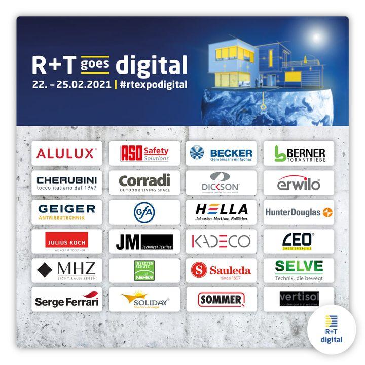 In weniger als 100 Tagen ist es soweit: Die R+T digital geht zum ersten Mal online. Über 130 Aussteller aus 19 Ländern haben sich bereits für unseren virtuellen Branchentreff im Februar 2021 angemeldet. Im Dezember werden wir eine offizielle Ausstel...