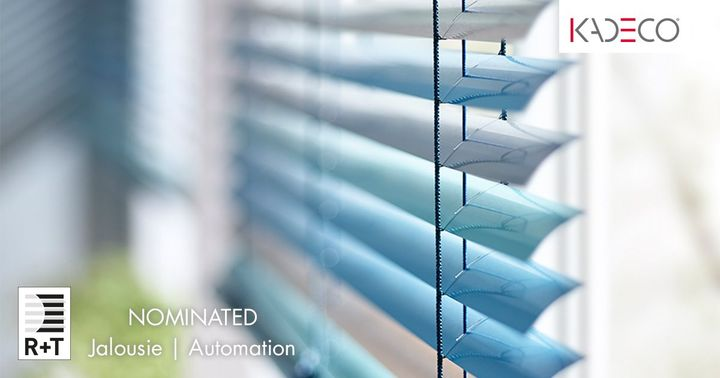 Kadeco was able to convince with two product innovations in the areas of automation and blinds and was nominated in both categories for this year's R+T digital innovation award. Discover these and other exciting innovations at the digital KADECO booth....