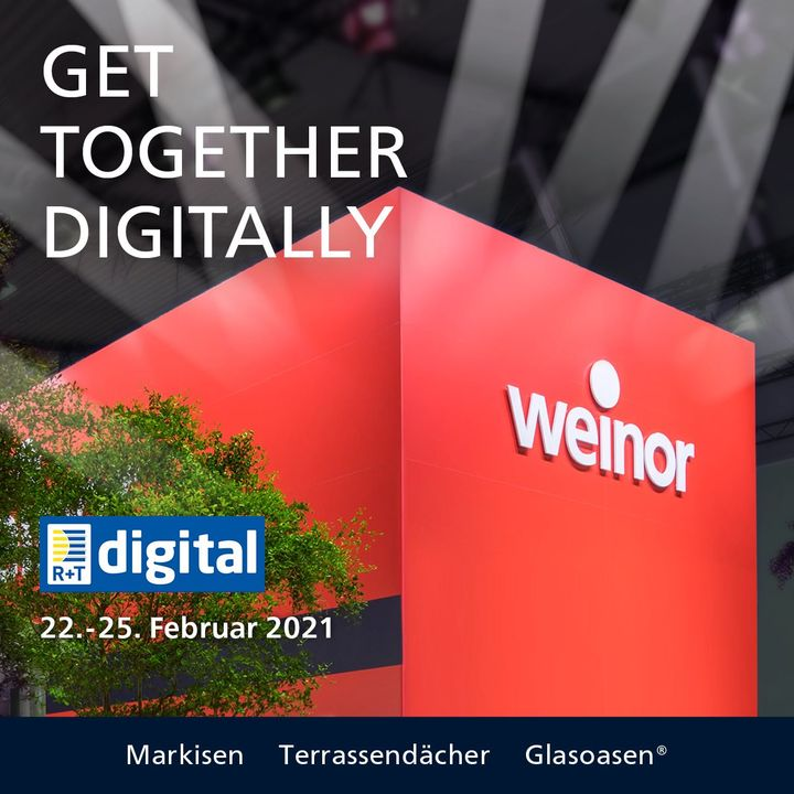 The team of Weinor Gmbh & Co. is looking forward to chatting to R+T digital visitors! The focus of weinor's trade fair presentation will be on the new sustainable modern basics blue® awning fabric collection and other recent product innovations. Addit...