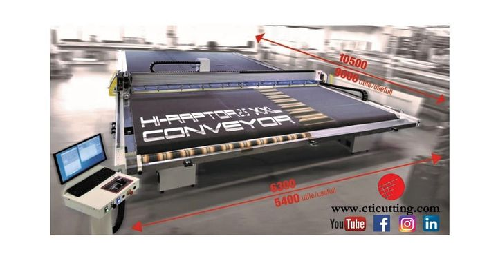 "With the ""Hi-Raptor 2.5 XXL Conveyor"" from Cutting Trading International, there are no limits to technology evolution and customizations! Discover at R+T digital all the technologies and specific cutting machines of Cutting Trading International, espec..."