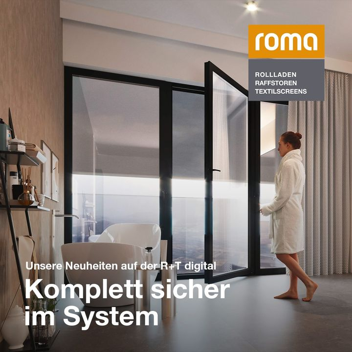 A highlight with a view: at R+T digital, @roma.die.marke presents the comprehensively expanded application possibilities of the integrated glass fall protection as a cross-system solution. In the future, building owners will be able to enjoy an even mo...