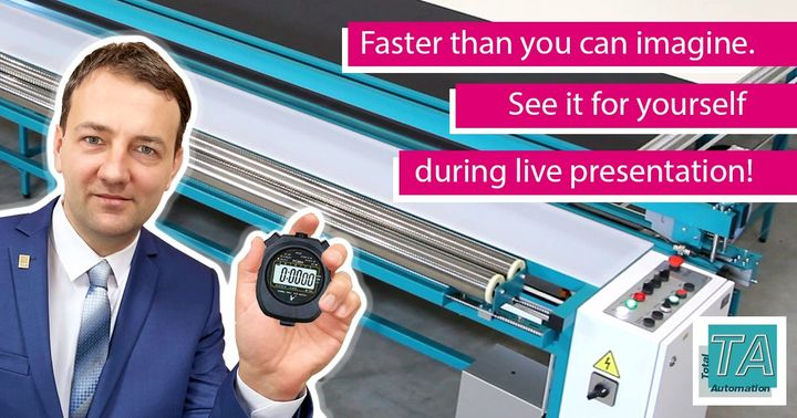 Join the live presentations of TA, THE leading producer of fabric cutting equipment in Russia and CIS countries! The live presentations will take place every day during R+T digital. Participation is free of charge. In addition, each attendee will recei...