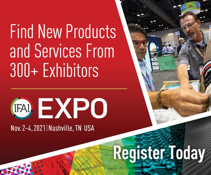 Have you already registered for the IFAI Expo in Nashville (USA)? We have three good reasons for you why it is worth attending IFAI Expo, the leading trade fair for the industrial textiles sector, from 2 to 4 November 2021: ? More than 300 exhibitor...