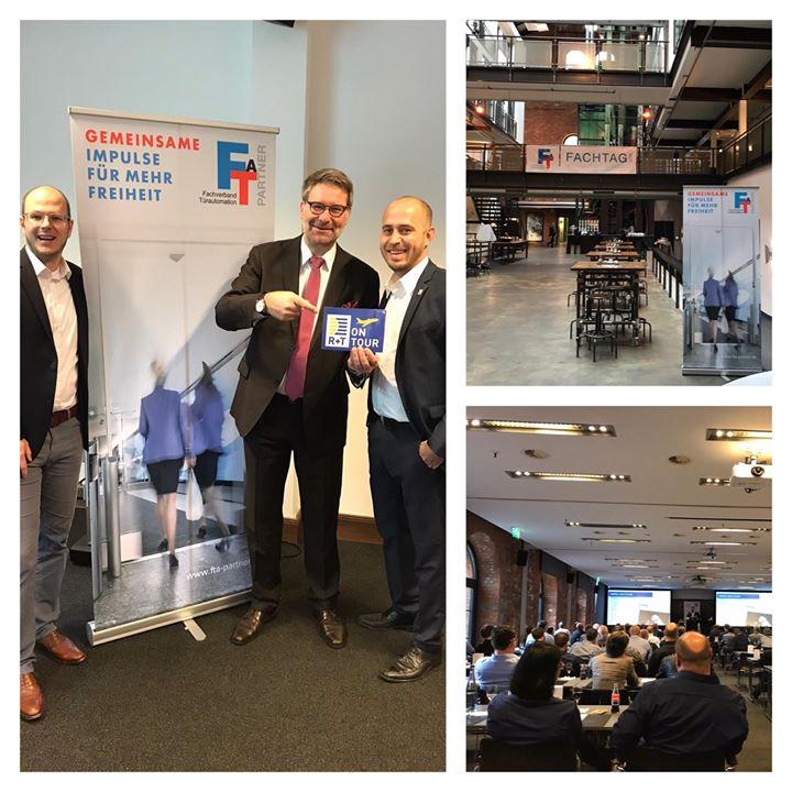 Zwei spannende Tage auf dem Fachtag Türautomation und die Mitgliederversammlung des FTA – Fachverband Türautomation in Hamburg liegen hinter uns. Wir waren #onTour und hatten die Möglichkeit den Mitgliedern die R+T vorzustellen. Nach der erfolgrei...