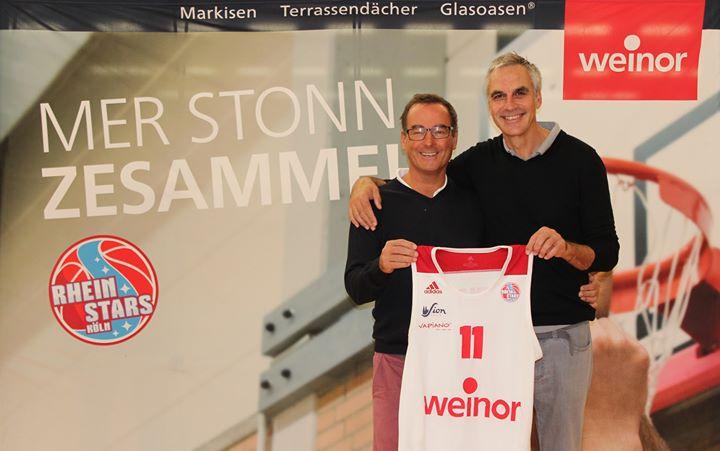 Weiterhin Hauptsponsor: Weinor bleibt auch für die laufende Saison Hauptsponsor der RheinStars Köln – mit der Option auf zwei weitere Jahre. Der nordeuropäische Marktführer für Sonnen- und Wetterschutz auf der Terrasse wird damit weiterhin auf d...