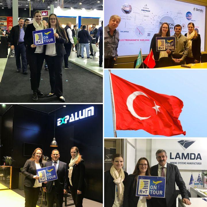 Mal wieder heißt es: R+T on Tour! Unser Team hat heute die vierte R+T Turkey in Istanbul eröffnet. Unter den 102 Ausstellern sind wieder treue R+T-Aussteller, wie Expalum, Berteks & Lamda. Wer in der Nähe ist, kann noch bis Samstag die R+T Turkey au...