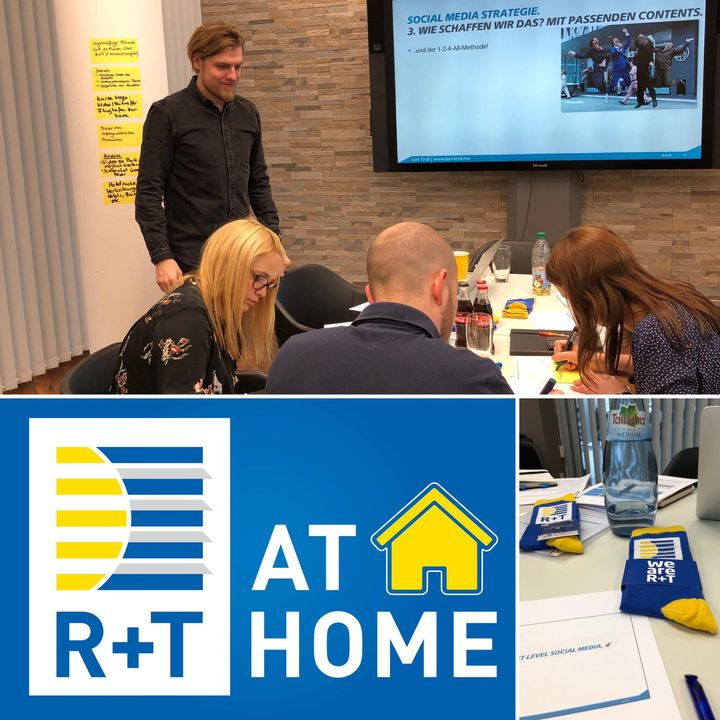 R+T@home hieß es gestern bei unserem Social Media Workshop mit Lars Kroll und unger+ kreative strategen - Für uns gab es spannende Einblicke, vielfältige Ideen und jede Menge weiteren Input - Ihr könnt euch schon auf weitere News von uns freuen! #r...
