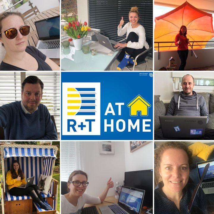 """Auch in diesen Zeiten sind wir für Euch erreichbar und arbeiten fleißig von zu Hause aus - getreu dem Motto """"R+T@Home"""" - da darf der richtige Sonnenschutz natürlich nicht fehlen. ? Das Wichtigste gerade ist jedoch: Bleibt gesund! Euer R+T Team"""