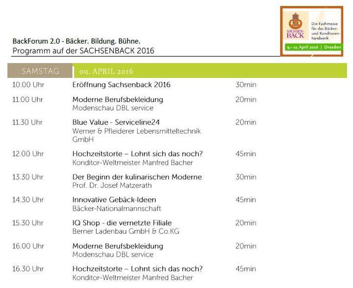 Das Programm in unserem BackForum 2.0 kann sich an an allen drei Sachsenback-Messetagen sehen lassen. Wir freuen uns auf euren Besuch!!