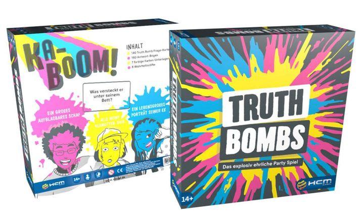 """Herbstzeit ist Spieleabendzeit! Schnappt euch ein paar Freunde und los geht's. Super lustig wird's mit der Neuerscheinung """"Truth Bombs"""" von HCM Kinzel. Hier geht es um die Enthüllung eurer pikantesten Geheimnisse. Lernt Neues über eure besten Freunde..."""
